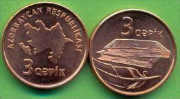 Azerbaijan 2006 (ND) 3 Qapik KM#40 UNC - Azerbaïdjan