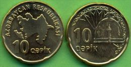 Azerbaijan 2006 (ND) 10 Qapik Coin KM#42 UNC - Azerbaiyán