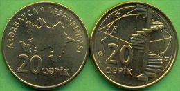 Azerbaijan 2006 (ND) 20 Qapik Coin KM#43 UNC - Azerbaiyán