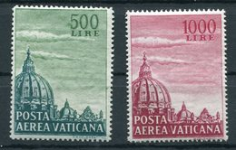Vaticano (1958) - Cupola Di S. Pietro Sass. 33/34 ** - Posta Aerea
