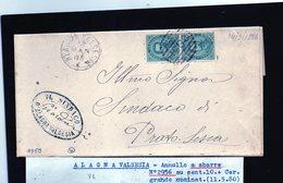 CG34 - Lettera Da Alagna Valsesia Per Prato Sesia 11/5/1880 - 1878-00 Umberto I