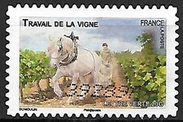 FRANCE   -    2013 .  Y&T N° 822 Oblitéré.   Cheval  /  Travail De La Vigne - Autoadesivi