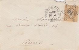 LETTRE. 22 MARS 68. N° 28. PARIS ETOILE 10 . POUR EN VILLE.      / 2 - 1849-1876: Période Classique