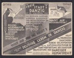 """1933 - Karte """"Freie Stadt Danzig...."""" - Gebraucht In Zoppot - Allemagne"""