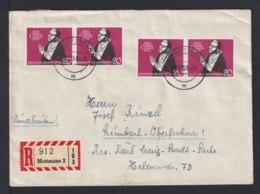1958 - 4x 20 Pf. Cusanus-Stift (301) Als Mehrfachfrankatur Auf Einschreibbrief Ab Mettmann - [7] République Fédérale