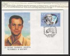 3203X Espace (space Raumfahrt) Lettre Cover Russie (Russia Urss USSR) 12/4/1986 Cosmonauts Day Gagarine Gagarin - FDC & Commémoratifs