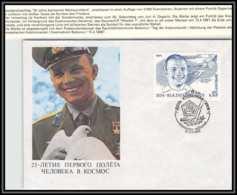 3205X Espace (space Raumfahrt) Lettre Cover Russie (Russia Urss USSR) 12/4/1986 Cosmonauts Day Gagarine Gagarin - FDC & Commémoratifs