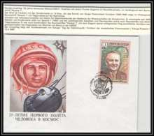 3206X Espace (space Raumfahrt) Lettre Cover Russie (Russia Urss USSR) 12/4/1986 Cosmonauts Day Gagarine Gagarin Korolev - FDC & Commémoratifs