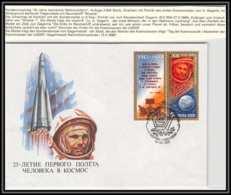 3208X Espace (space Raumfahrt) Lettre Cover Russie (Russia Urss USSR) 12/4/1986 Cosmonauts Day Gagarine Gagarin - FDC & Commémoratifs