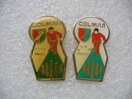 2 Pin's Du Club De Pétanque De Colmar (ASHP Quilles), Section Quilles Classic - Bowling