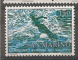 San Marino - Serie Completa Nuova MNH: Campionati Europei Di Sci Nautico - 1979 * G - Sci Nautico