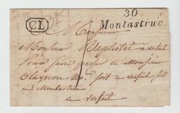 Hte Garonne: Cursive 30 / MONTASTRUC TM 1 + CL De Lavaud / LAC De 1830 ,SUP - 1801-1848: Précurseurs XIX