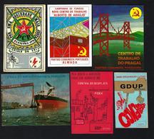 Lote 6 AUTOCOLANTES Propaganda Politica Do Distrito SETUBAL. 6 X SOCIALIST Stickers PORTUGAL Political REVOLUCION 1970s - Advertising