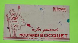 Buvard - Moutarde BOCQUET - Etat D'usage : Voir Photos - 21x12 Environ - Année 1950 / 22 - Mostard