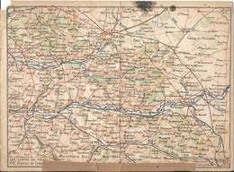 FRANCHISE MILITAIRE - Correspondance Des Armées  /  Carte Double /  LES CARTES  DU  FRONT -  PLATEAU DE CRAONNE - FM-Karten (Militärpost)