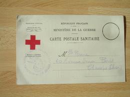Carte Postale Sanitaire  Bulletin Sante Militaire Evacue  Hopital Evacuation  159 Cachet Franchise Postale Guerre 14.18 - Guerre De 1914-18