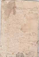 MAINE ET LOIRE-BAGNEUX-ACTE DE VENTE-FAIT PAR LE SEIGNEUR-VOIR SCANNER - Manuscripten