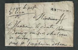 LAC De Crémieu (Isère) Pour Le Comte Du  Bourg En Son Chateau De Ternay Par Saint Symphorien D'Ozon - 1801-1848: Précurseurs XIX