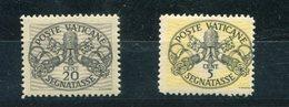 Vaticano (1946) - Segnatasse Sass. 14/I ** - 18/I ** - Postage Due