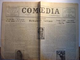 COMOEDIA Du 17 NOVEMBRE 1928 - SCHUBERT - CECILE SAUVAGE - BERNARD SHAW - COMTESSE DE NOAILLES - Journaux - Quotidiens