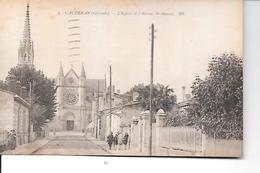 CPA (33) CAUDERAN  L'église Et L'avenue St Amand - Bordeaux