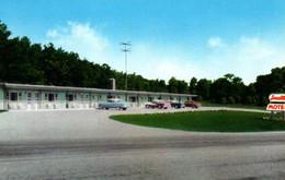 Traffic Circle, Epsom (New Hampshire, NH) Small's Motel 1957 - Etats-Unis
