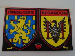 Blason écusson Adhésif Autocollant Franche Comté Et Besançon  Aufkleber Wappen Sticker Adhesivo Adesivo - Obj. 'Remember Of'