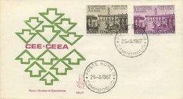 ITALIA - FDC VENETIA 1967 - TRATTATI DI ROMA - ANNULLO ROMA CAMPIDOGLIO - F.D.C.