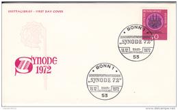 ALLEMAGNE   ERSTTAGSBRIEF   FIRST DAY COVER  SYNODE 13.12.1972    BONN1 - Allemagne