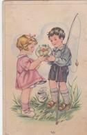 Thèmes Illustrateurs  Jeune Enfants A La Pêche - 1900-1949