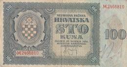 100 Kuna 1941 Croatie - Croatia