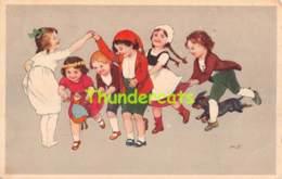 CPA DESSIN ILLUSTRATEUR ENFANT MARIE FLATSCHER ARTIST SIGNED CARD CHILDREN CHIEN DOG DACHSHUND TECKEL - Altre Illustrazioni