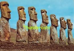 CPSM 1968 EASTER ISLAND RAPA NUI  ALTAR AHU AKIVI - Rapa Nui