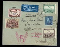 LSc De Châtelet 21 X 36 / Bruxelles 21 X 36 => Kabalo 29 10 36 => Bxl 1er Avion Sabena Kabalo-Stanleyville VDB 274U - 1923-44: Lettres