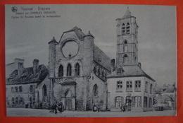 Tournai. Dessin Charles Vasseur. Eglise St-Nicolas. - Tournai