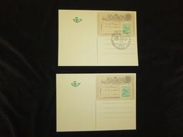 BELG.1971 B1 1° CARTE POSTALE / EERSTE BRIEFKAART ( 2 Cartes) - Illustrat. Cards