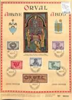 NN - [990043]B/TB//O/Used-NN - Belgique 1943 - N° 625/30, ORVAL, Lettrines Sur Feuillet D'Art - Belgique