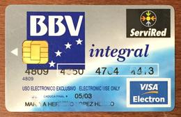 ESPAGNE BANCO BILBAO BBV INTEGRAL VISA CASH CARTE BANCAIRE CARTE À PUCE QUE POUR COLLECTION - Cartes De Crédit (expiration Min. 10 Ans)