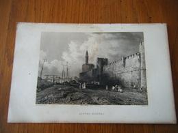 Gravure XIX Eme Vers 1850 AIGUES MORTES GARD Justin Ouvrié - Estampes & Gravures