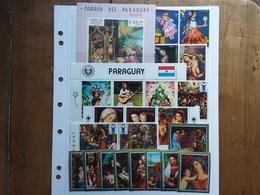 PARAGUAY - Lotto Natale Anni '60/'70 - 9 BF + 23 Francobolli In Serie Nuovi ** + Spese Postali - Paraguay