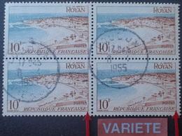DF/1218 - 1954 - ROYAN - N°978 (x2) + 978a (x2) ☉ - VARIETE ➤➤➤ PIE_ Au Lieu De PIEL - Abarten: 1950-59 Gebraucht