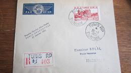 1792  1 ER VOL AEROPOSTAL   TUNIS BRAZZAVILLE    MR  SOLAL - Tunisia (1956-...)