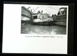 """SAiNT-BREVIN MINDIN - Renflouement  Bateau D'excursion  """"SAINT PHILIBERT"""" - Coupure De Presse (encadré Photo) De 1931 - Documenti Storici"""