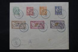 DEDEAGH - Affranchissement Série Complète Sur Enveloppe En 1913, Oblitération Plaisante - L 59087 - Dedeagh (1893-1914)