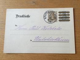 K2 Deutsches Reich Ganzsache Stationery Entier Postal DRP 3 Mit Zudruck Von Stuttgart 12.12.12 - Allemagne