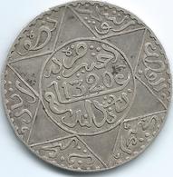 Morocco - AH1320 (1903) - Abd Al-Aziz - 5 Dirhams / ½ Rial - London Mint - KMY21.2 - Marocco