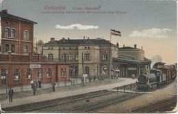 REF1043/ CP Cantons De L'Est Herbesthal GrensBahnhof Animée Train En Gare - Lontzen
