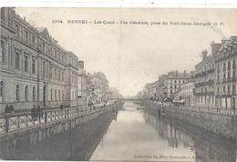 1004. RENNES . LES QUAIS . VUE GENERALE PRISE DU PONT SAINT-GEORGES . AFFR AU VERSO LE 2-9-1905 . 2 SCANES - Rennes