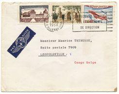 PARIS 1958 TARIF LETTRE AVION POUR LE CONGO BELGE - 1921-1960: Periodo Moderno