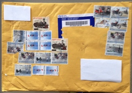 Mozambique ,  2009 ,  Scooter , Stand Up , Motorbike  , Segway , Train , Rickshaw , LAM ,  Circulated Cover Big Format - Motos
